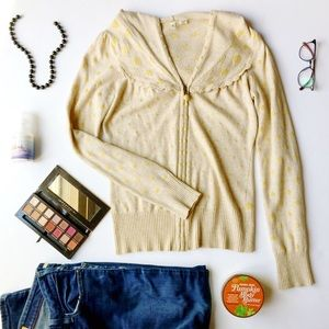 Anthropologie Moth Tan and Gold Hoodie